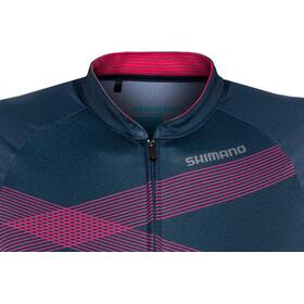 Shimano Team Kurzarm Trikot Damen navy/pink